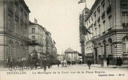 Bruxelles - Tramway hippomobile - Montagne de la Cour
