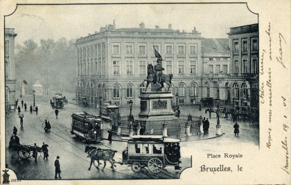 Bruxelles - Place Royale - Tramways