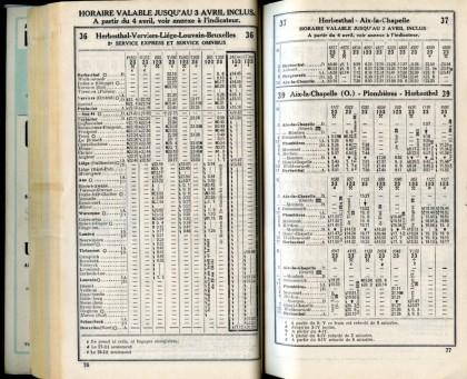 Ligne 36 . 10 (Horaire 1937)