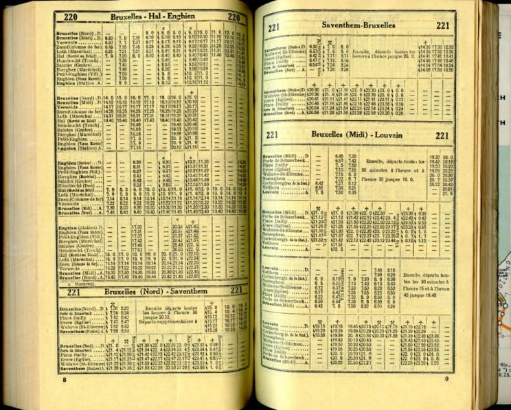 Ligne 220-221 (Horaire 1937)