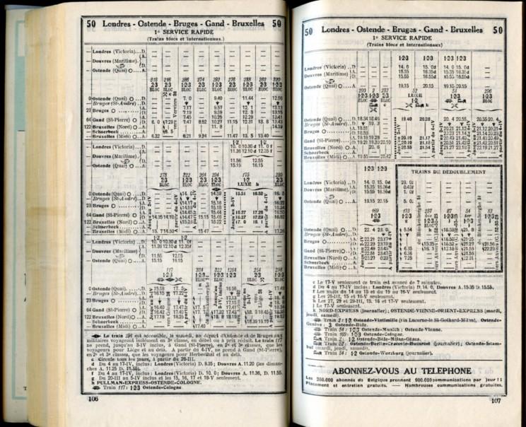 Ligne 50 (2) - Horaire 1937