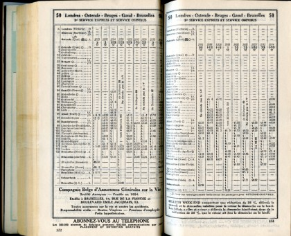 Ligne 50 (9) - Horaire 1937