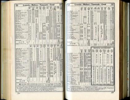 Ligne 53 (3) - Horaire 1937