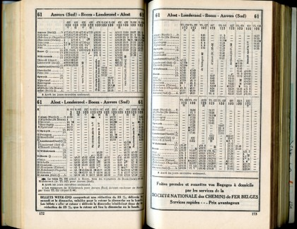 Ligne 61 (Horaire 1937)