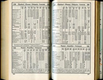 Ligne 139/4 - 142(Horaire 1937)