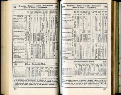 Lignes 101 - 108 - 110 (Horaire 1937)
