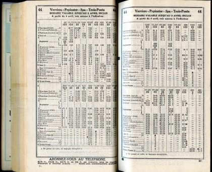 Ligne 44 - 1 (Horaire 1937)