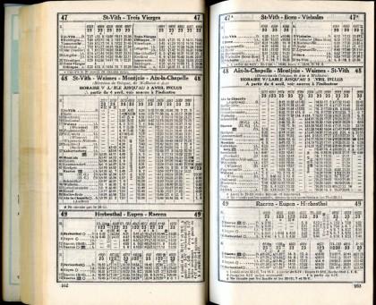 Lignes 47 - 47A - 48 - 49 (Horaires 1937)