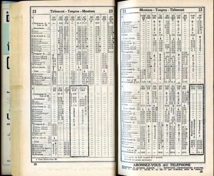 Ligne 23 (Horaire 1937)