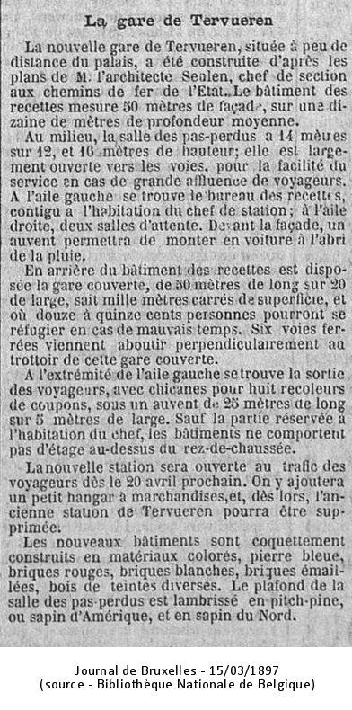 Journal de Bruxelles 15/03/1897 (Source : Bibliothèque Nationale de Belgique)