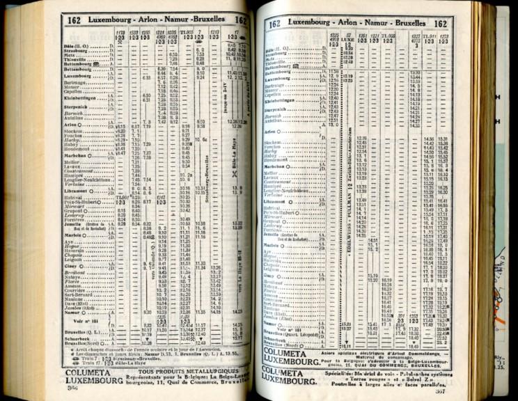 Ligne 162 (Horaire 1937)
