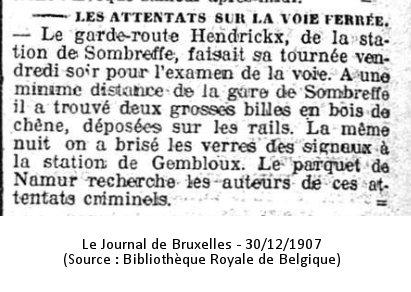 Journal de Bruxelles 30/12/1907 (Source : Bibliothèque Royale de Belgique)