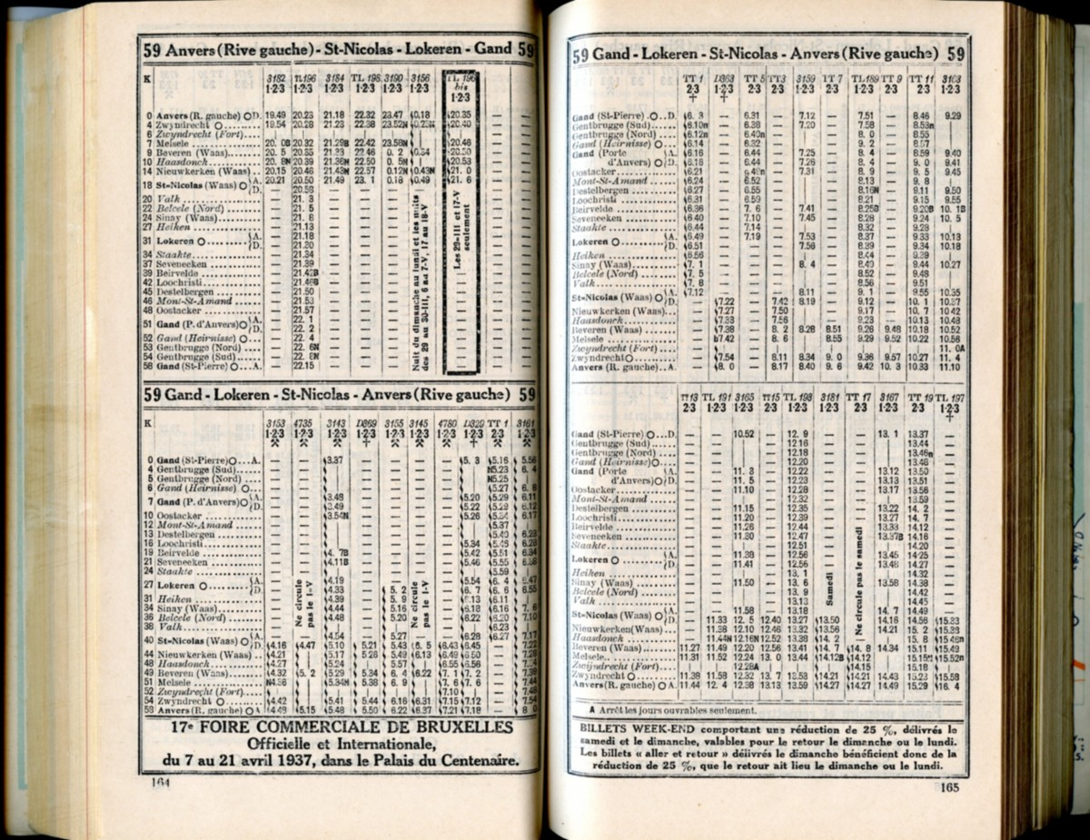 Ligne 59 - 2 (Horaire 1937)