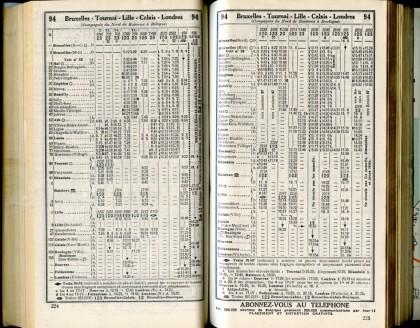 Ligne 94 - 1 (Horaire 1937)