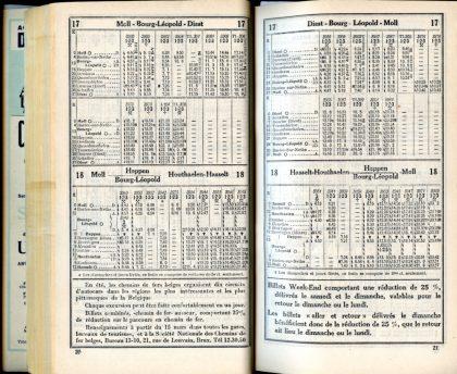 Lignes 17 - 18 (Horaires 1937)