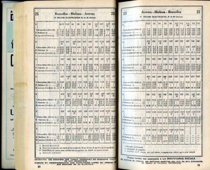 Ligne 25 _ 1 (Horaire 1937)