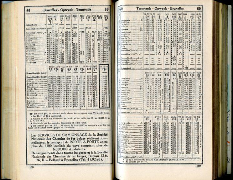 Ligne 60 (Horaire 1937)