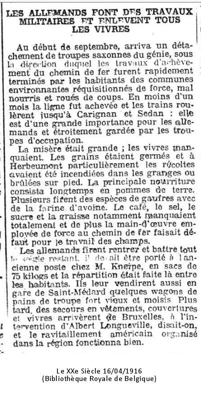Le XXe Siècle 16/04/1916 (Bibliothèque Royale de Belgique)