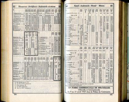 Lignes 85 - 86 (Horaires 1937)