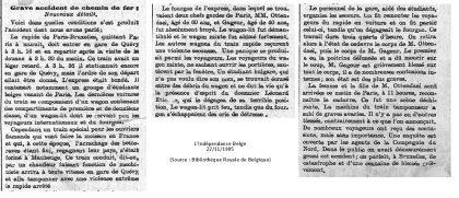 L'indépendance Belge - 22/11/1905 (Bibliothèque Royale de Belgique)