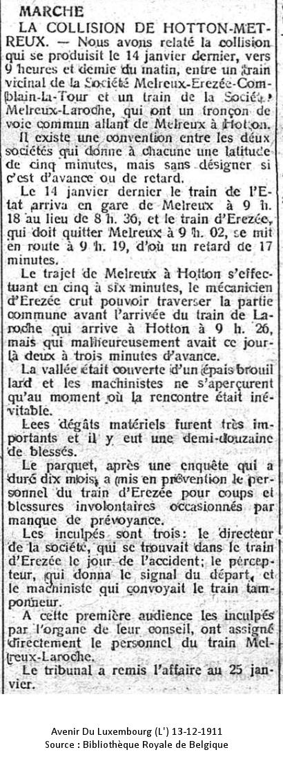 Avenir du Luxembourg 13/12/1911