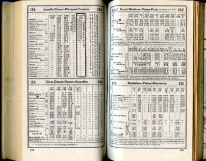 Horaires 1937 - Lignes 150 - 154 - 154A - 155