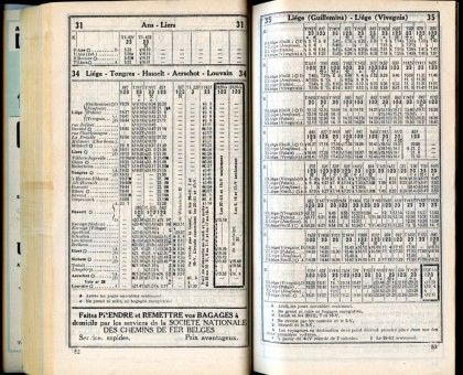 Ligne 34-35 (horaire 1937)