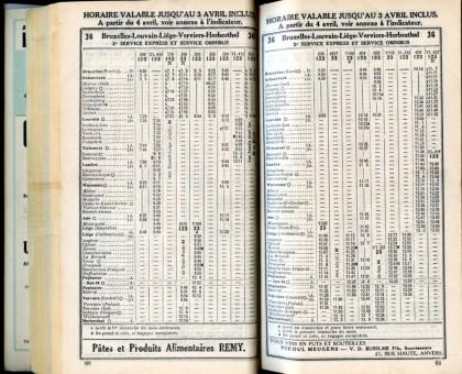 Ligne 36 . 2 (Horaire 1937)