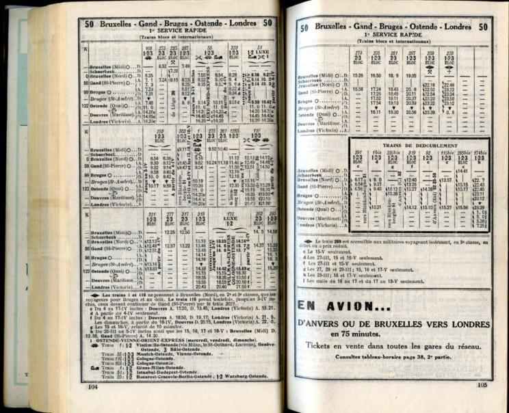 Ligne 50 (1) - Horaire 1937