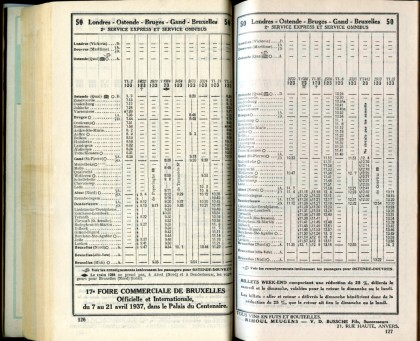 Ligne 50 (11) - Horaire 1937