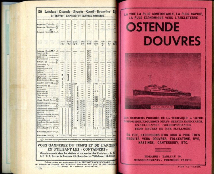 Ligne 50 (12) - Horaire 1937
