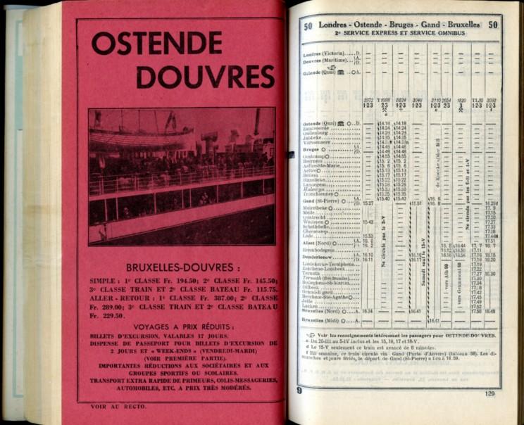 Ligne 50 (13) - Horaire 1937