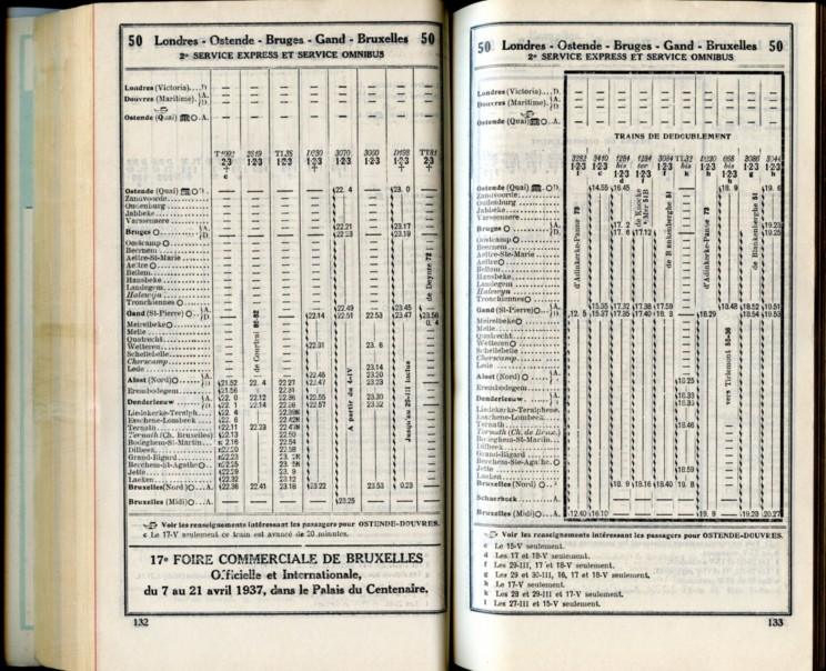 Ligne 50 (15) - Horaire 1937