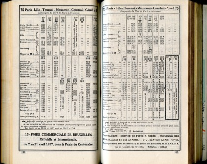 Ligne 75 d (Horaire 1937)