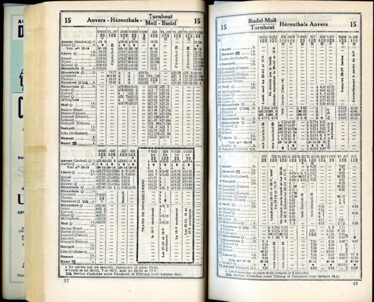 Ligne 15 - 2 (Horaire 1937)
