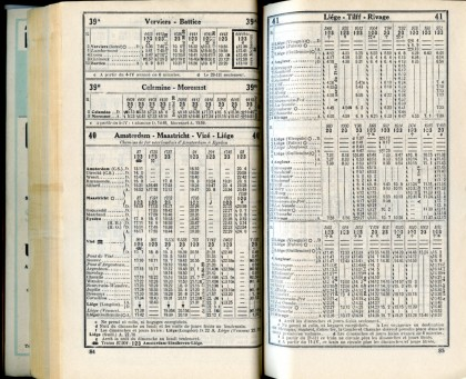 Lignes 39A - 39B - 40 - 41 (Horaires 1937)