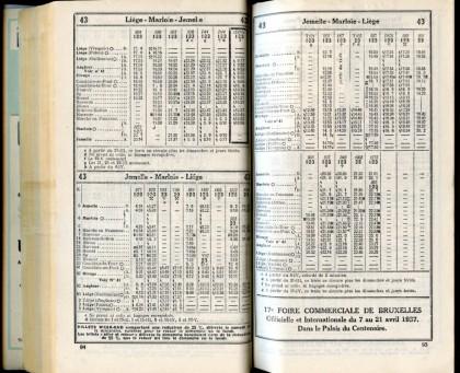 Ligne 43 (Horaire 1937)