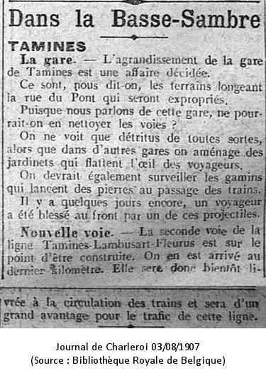 Journal de Charleroi - 03/08/1907