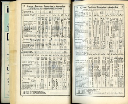 Ligne 12 (Horaire 1937)