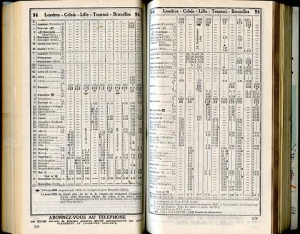 Ligne 94 - 3 (Horaire 1937)