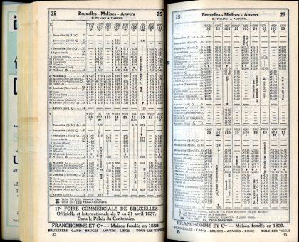 Ligne 25 _ 2 (Horaire 1937)