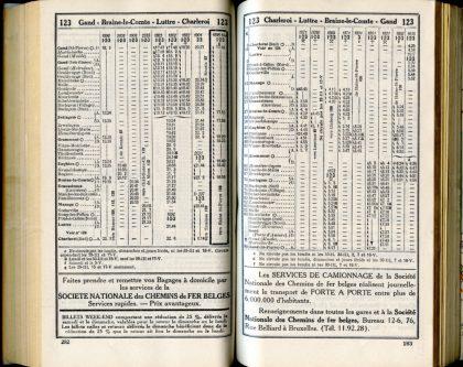 Ligne 123 /3 (Horaires 1937)