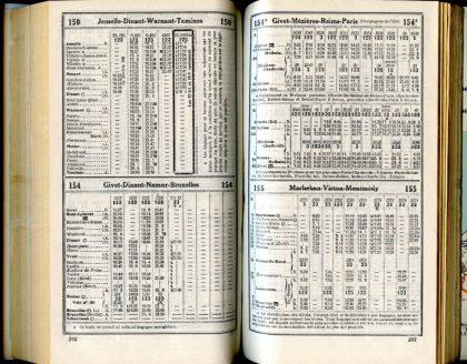 Lignes 150 - 154 - 154A - 155 (Horaires 1937)
