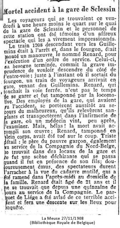 La Meuse 27/11/1908