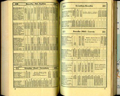 Lignes bus 220 - 221 (Horaires 1937)