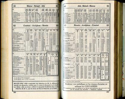 Lignes 81 - 83 (Horaires 1937)