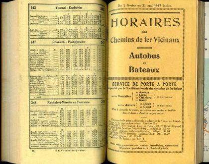 Lignes autobus 243 - 247 - 248 (Horaires 1937)