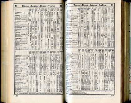 Ligne 87 (Horaire 1937)