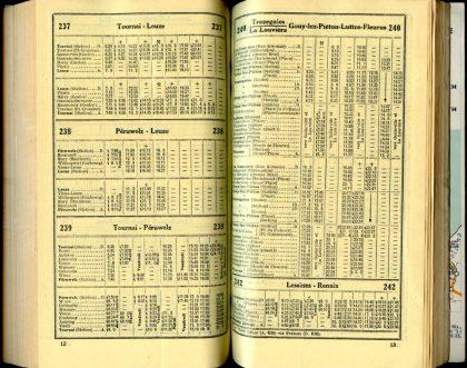 Lignes bus 237 - 238 - 239 - 240 (Horaires 1937)