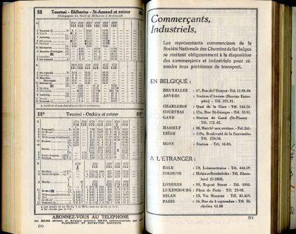 Lignes 88 - 88a (Horaires 1937)